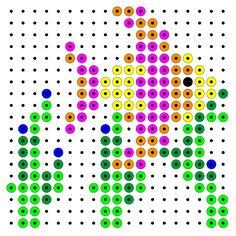 Fish hama perler beads pattern