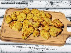 Ponto de Rebuçado Receitas: Nuggets leves de frango com parmesão