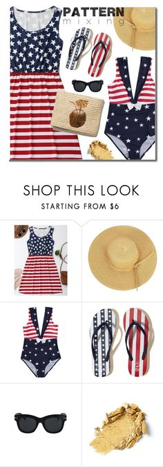 """""""Stay Bold: Pattern Mixing"""" by justkejti ❤ liked on Polyvore featuring Hollister Co., beach, patternmixing and zaful"""