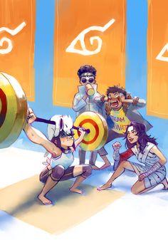 😂 Awesome, Hinata and her team Naruto Uzumaki Shippuden, Naruto Kakashi, Anime Naruto, Team 8 Naruto, Naruto Comic, Naruto Cute, Hinata Hyuga, Haikyuu Anime, Boruto