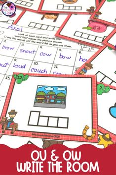 Are you searching for fun AU & AW activities? Write the Room activities are a great way to keep your students engaged and learning!  This game like activity will have your 1st or 2nd graders moving around the room and practicing the AU & AW spelling patterns. It's a perfect activity for small groups or literacy centers or rotations! It also makes a nice phonics review activity. Check out this great activity, you won't be disappointed! {first grade, second grade, teaching,diphthongs… First Grade Phonics, Spelling Patterns, Teaching Phonics, Recording Sheets, Cool Writing, Literacy Centers, Disappointed, Student Learning, Task Cards