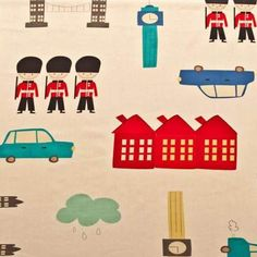 Exclusive London fabric for kids. Love this for Jack's room!!