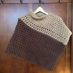 Crocheted wool and alpaca poncho. #handmade #wool #alpaca #crochet #poncho See More @ http://ift.tt/1TQkk12