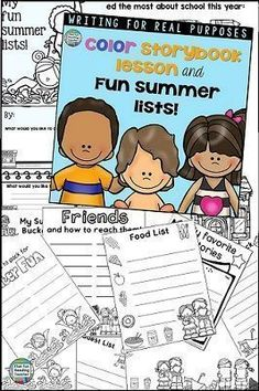 Read More About Summer Writing First Grade Lessons, Reading Resources, Classroom Resources, Common Core Reading, Thing 1, Cool Writing, Writing Lessons, Summer Activities For Kids, Kindergarten Literacy