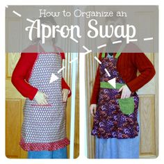 How to Organize an Apron Swap - Apron Strings & other things