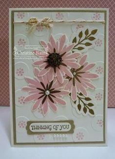 HAPPY HEART CARDS: STAMPIN' UP!'S FLOWER PATCH IN PINK AND GOLD