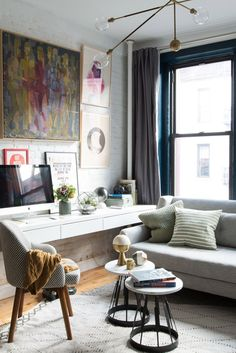 Small Space Living: Making the most of this 500 sq. ft. apartment, jam packed with Mid-Century style. Take the full tour on the west elm blog.
