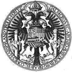 Seal of Charles V, Holy Roman Emperor (1500-1558), as King of Sicily. Sigilla Comitum Flandriae, Olivarius Vredius.