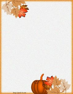 Holiday Paper Borders Printables   ... fall harvest stationery, free printable halloween writing paper