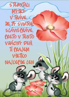 Happy birthday - wishes for kids-Všetko najlepšie – prianie pre deti They rattled the mice in the grass that you were celebrating the holiday. Therefore, on this precious day, I wish you all the best only - Birthday Wishes For Kids, Birthday Gifts, Gifts For Kids, Lettering, Diy And Crafts, Holiday, Party, Grass, Gift Ideas