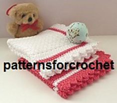 PFC34 Free Baby Washcloth Crochet Pattern by Patternsfor Designs