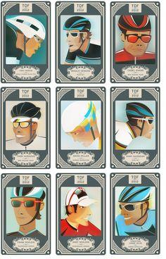 Crayonfire: Tour De France Riders | Neil Stevens  www.boxerbranddesign.com/blog