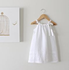 Toddler Girls White Linen and Lace Dress-Baby Baptism Dress-Beach Photo-Eco Friendly Clothing-Handmade Children Clothing by Chasing MiniItems similar to Girls Dress-Cream Cotton Lace-Baptism Dress-Toddler Dress-Birthday Party-Eco Friendly Clothing-Fl Baby Christening Dress, Baptism Dress, Baby Baptism, Fashion Kids, White Linen Dresses, White Baby Dress, Toddler Dress, Toddler Girls, Baby Girls