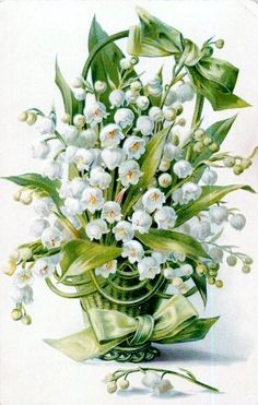 .muguet - lily of the valley card