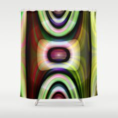 multicolored abstract no. 7 Shower Curtain by Christine baessler - $68.00