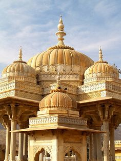 Royal Hindu cenotaph in Rajasthan, India