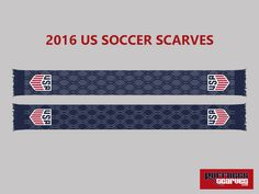 New 2016 US Soccer Supporters Scarves from RuffneckScarves.com USMNT USWNT USYNT