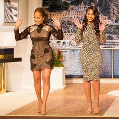 The post Hot or Hmm…: Marjorie Harvey's Stevie Harvey Show Gucci Resort 2016 Chantilly Lace Embroidered Dress and Lori Harvey's Givenchy Leopard Print Fitted Dress appeared first on Fashion Bomb Daily Marjorie Harvey, Lori Harvey, Steve Harvey, The Lady Loves Couture, Love Couture, Posh Dresses, Chantilly Lace, Sexy Outfits, African Fashion