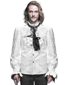 Devil #fashion mens gothic shirt top #white steampunk #regency aristocrat + crava,  View more on the LINK: 	http://www.zeppy.io/product/gb/2/381767026621/