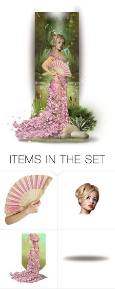 """Flora By the Lily Pond"" by auntiehelen ❤ liked on Polyvore featuring art"