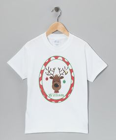 Sometimes Santa gets confused, so we recommend dressing those little holiday honeybunches in this darling one-of-a-kind tee. It can be personalized with any name, so Saint Nick has a clear recollection of who made the Naughty List and who made the Nice List.