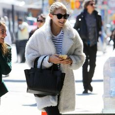 gigi hadid shearling teddy bear coats 1000