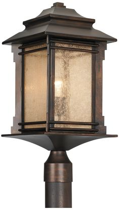 Franklin Iron Works Hickory Point Outdoor Post Light -
