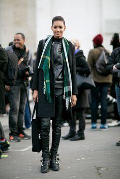 Model Street Style at Paris Fashion Week Fall 2015 | POPSUGAR Fashion
