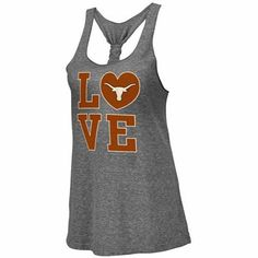 NEW ARRIVAL: Texas Longhorns Ladies Forget Me Knot Tri-Blend Tank Top