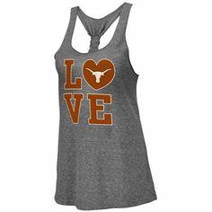 Texas Longhorns Ladies Forget Me Knot Tri-Blend Tank Top @ Fanatics.com