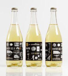 Supernatural Wine Packaging by Inhouse Wine Bottle Design, Wine Label Design, Wine Bottle Labels, Wine Bottles, Vides, Wine Brands, Wine Packaging, Branding, Wine And Beer