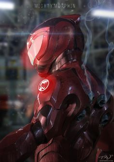 ArtStation - Red Ranger redesign , Tom Wholley