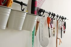 great idea for out of the way, but handy storage!