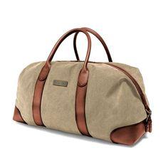 Duffel Weekender - beige Wash Bags, Green Bag, Canvas Leather, Weekender, Vintage Travel, Travel Bags, Shoulder Strap, Beige, Pure Products