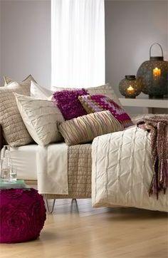 Looks SOOO comfy! Nordstrom at Home 'Wraparound Pleat - Cream Turtledove' Collection Decor, Home Bedroom, Cozy House, Winter Home Decor, Bedroom Decor, Beautiful Bedrooms, Home Decor, Pillow Room, Home Deco