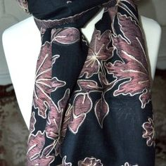 Surrealz Premier Handcrafted Pure Woollen, Embroidered Scarves