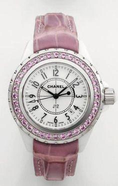 Vintage Chanel Pink Saphire watch sold by Les Pierres de Julie