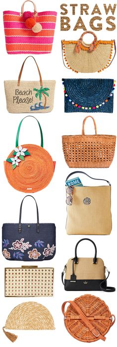 While I was packing for Charleston and then repacking for Bermuda, I was getting excited for all things summer. (Never mind the fact that it's still quite chilly out.) Including straw bags. I forgot to pack one for Charleston and ended up borrowing one from Sarah. I had meant to buy it and then completely forgot. Have to add it to my cart now! Below are some fun and classic straw bags for every occasion, whether you're heading out to a soiree or to the sea.