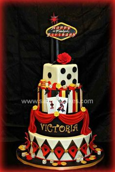 We created this amazing looking Vegas Themed Cake for Victoria's Quince celebration. We absolutely loved this cake; Las Vegas Cake, Las Vegas Party, Vegas Theme, Casino Theme Parties, Casino Party, Casino Night, Dog Treat Recipes, Healthy Dog Treats, Dinner Recipes For Kids