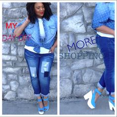 The Shopping Slayer in our plus size denim shirt http://www.theshoppingslayer.com/home/ avenue.com