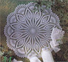 Pineapple Crochet Doily, White Doily, Crochet Lace, Table Center, Victorian, Homedecor via Etsy