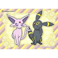 Pokemon Center 2013 Espeon Umbreon Large Sticker NOT SOLD IN STORES