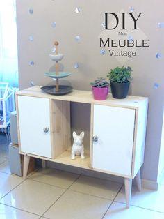 Un meuble au style nordique-vintage. Tuto Inside