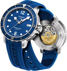 Step it up a notch with this fancy blue watch!