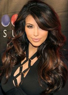 long hairstyles with layers and side swept bangs