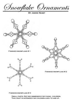 Beaded snowflake ornaments PATTERN (item no longer available )