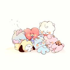Bts Chibi, Bts Pictures, Pictures To Draw, Bts Taehyung, Bts Jimin, Bts Aesthetic Wallpaper For Phone, Chibi Wallpaper, Kpop Diy, Bts Aesthetic Pictures