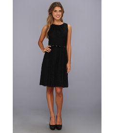Ellen Tracy Sleeveless Lace Fit & Flare Dress Black - Zappos.com Free Shipping BOTH Ways