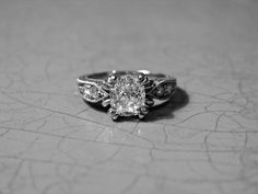 My Antique Engagement Ring, Cushion Cut, Edwardian