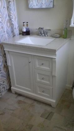 Home Decorators Collection Naples 30 in. D Vanity Cabinet Only in Warm Cinnamon with Right Hand Foremost, Naples 30 in. Vanity Cabinet Only in Warm Cinnamon, at The Home Depot – Mobile Small Bathroom Vanities, Bath Vanities, Bathroom Cabinets, White Bathroom, 30 Inch Bathroom Vanity, Master Bathrooms, Farmhouse Bathrooms, Bathroom Mirrors, Small Bathrooms